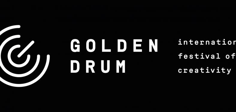 golden drum logo black horizontal